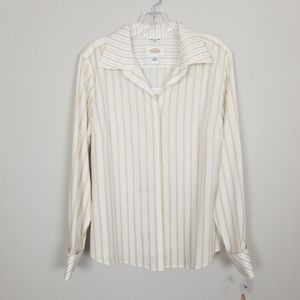 Talbots Gold Stain White Wrinkle Resistant Stretch